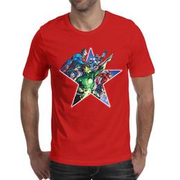$enCountryForm.capitalKeyWord Australia - Superman Batman Flash Green Lantern red men's short sleeve tee shirts cheap t shirt 100%cotton cute funny men Tops Pullover