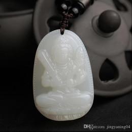 Natural Jade Pendant Buddha Australia - Natural and nephrite jade Buddha Pendant natal male and female patron saint of the twelve zodiac year of fate Pendant Necklace Pendant