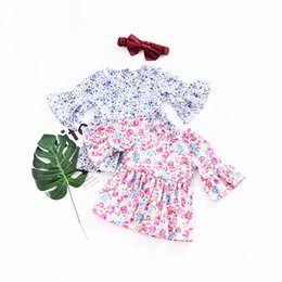 Discount dresses contrast girls - Toddler Baby girls dresses summer 2019 Floral Print Ruffles Half Sleeve Dresses Outfits Clothes vestido infantil bebek e