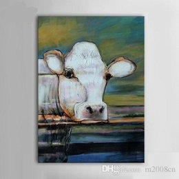 $enCountryForm.capitalKeyWord Australia - Abstract Animal Cow Nature quality Canvas,Handpainted  HD Print Home Decor Wall Art Oil Painting On Canvas Multi Sizes  Frame Options A149