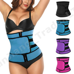 Wholesale Adjustable Waist Shaper Band Summer Body Shaper Waist Trainer Slimming Belts Women Men Slim Shapewear Waistband GYM Sports Assistants A42308