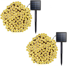 outdoor green power solar lights Australia - Solar String Lights 20 Pack Christmas lights 72ft 22m 200 LED Solar Powered Starry Lighting Waterproof Outdoor String Lights