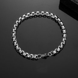 $enCountryForm.capitalKeyWord Australia - New Style Box Chain Bracelet Homme Mens Stainless Steel Bangles Armbanden Man Bracalete Hip Hop Jewelry Dropshipping