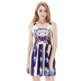 $enCountryForm.capitalKeyWord UK - Women Billowing Dress Oil Painting Stripes 3D Full Printed Girl Stretchy Casual Pleated Parasol Dresses Lady Sleeveless Skirt (RSkd1164