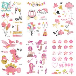 $enCountryForm.capitalKeyWord NZ - EC751-770 Pink Style Tattoo Sticker Cartoon Children Cute Unicorn Dinosaur Umbrella Temporary Tattoo Sticker Body Art Flash Taty