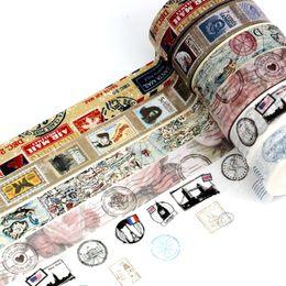 $enCountryForm.capitalKeyWord Australia - 2019 10m Length Retro Washi Tape Set Vintage Map DIY Decorative Scrapbooking Masking Tape Adhesive Label Stickers for Planner Diary 2016