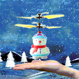 toy helicopter induction Australia - Snow Baby Induction Sensor Aircraft Mini Snowman Electric RC Helicopter Drone Automatic Booting Flyer Electronic Christmas Toys for Kids