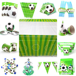 $enCountryForm.capitalKeyWord Australia - Football Theme Props Plate Banner Invitation Card Kids Birthday Party Decor Baby Shower Party Supplies set Decoration