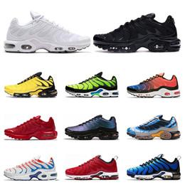 Venta al por mayor de nike air vapormax tn plus  de alta calidad para hombres triple blanco negro Volt Color Flip HYPER CRIMSON moda Zapatillas deportivas deportivas zapatillas de deporte talla 40-46