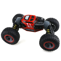 remote control stunt car UK - 1 16 Double-sided 4WD RC Stunt Car with Remote Controller for Fun Remote Control Electric Crawl Off Road RC Car
