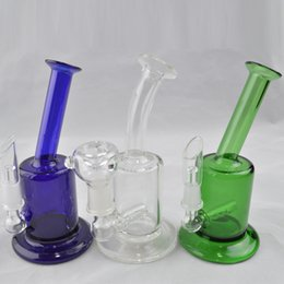inline water bubbler NZ - Mini Bubbler Glass Ash Catcher Inline Gridded Percolator Water Pipe 5.5 inch Oil Rig Bong 10mm Joint Bubbler Pipes Glass Hookah
