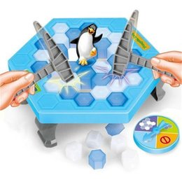 penguin puzzles NZ - Pudcoco Baby Boy girls Newest Hot Penguin Trap Ice Breaker Kids Child Interactive Puzzle Desktop Knock Game Block Family Toy
