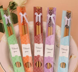 "$enCountryForm.capitalKeyWord Australia - China ""East Meet West"" Natural Bamboo Chopsticks Tableware Wedding Favor Party Gift Souvenirs Free Shipping"