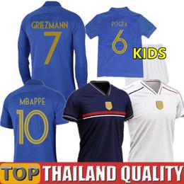 Jersey numbers kit online shopping - 2019 top thailand soccer jersey blue gold number Long Sleeve men women kids kit maillot de foot