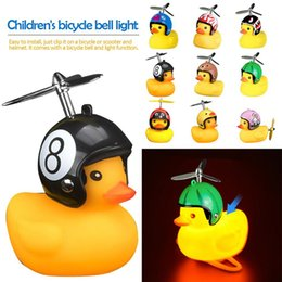 $enCountryForm.capitalKeyWord Australia - Bicycle Duck Bell with Light Broken Wind Small Yellow Duck MTB Road Bike Motor Helmet Riding Cycling Accessories led lights