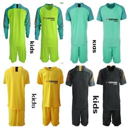 f29718a5bcb Soccer goalkeeper kitS online shopping - KIDS Soccer goalkeeper Uniforms  jersey ARRIZABALAGA CABALLERO GREEN HAZARD DAVID