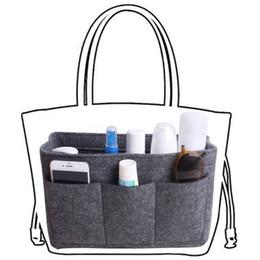 Wool Cloth Soft Australia - New Women Felt Cloth Inner Bag Obag Fits In Insert Handbag Multi-pockets Storage Personal Belongings Organizer #94754