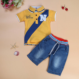 $enCountryForm.capitalKeyWord Australia - JT-026 Retail 2019 summer fashion baby boys sets children set of polo shirt + loose-fitting shorts kids clothing boys suit