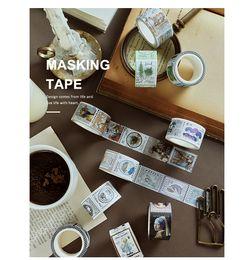 $enCountryForm.capitalKeyWord Australia - 2019 Vintage Stamp series Decorative Adhesive Tape Masking Washi Tape DIY Scrapbooking Sticker Label japanese stationery 2016