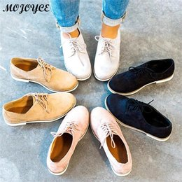 $enCountryForm.capitalKeyWord Australia - Women Casual Shoes Lightweight Fashion Design Flats for Lady Big Size Lace-Up Woman Shoes 35-43 Feminina Mujer Dropshipping