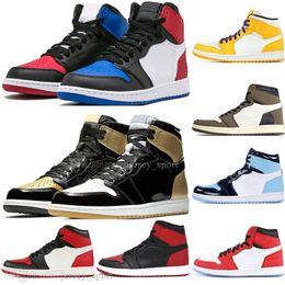 $enCountryForm.capitalKeyWord Australia - Best Quality New 1 OG Travis Scotts UNC Spiderman Lakers Phantom Mens Basketball shoes 1s Top 3 Banned Bred Toe Men Sports Designer Sneakers