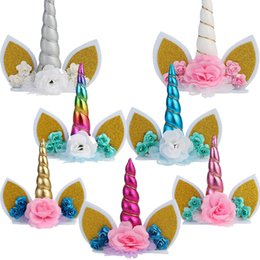 $enCountryForm.capitalKeyWord NZ - 20pcs lot Unicorn cake topper wedding birthday party cake decor baby shower unicorn theme party supplies DIY top