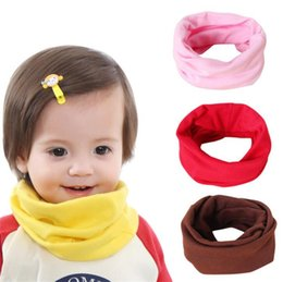 White Cotton Scarves Australia - New Children Soft Ring Baby Scarf Long Ring Wraps Shawl Stole Signature Cotton Scarves Kids Scarves Neck Scarf