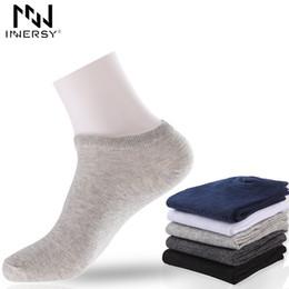 $enCountryForm.capitalKeyWord Australia - Innersy Brand 5pcs lot Thin Short Deodorize Cotton Boy's Socks Casual Wear Colorful Stocking Pattern Men MX190719