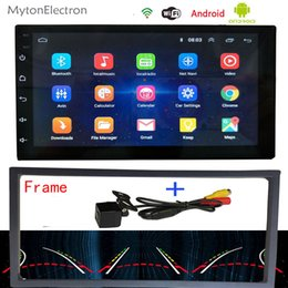 2din gps radio Canada - Android Car Radio Audio Stereo FM 2din wifi DVD 1024*600 GPS Navigator Bluetooth Intelligent Dynamic Trajectory Parking camera