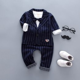 $enCountryForm.capitalKeyWord NZ - good qulaity baby boys autumn clothing set formal striped gentleman suit for infant kids party costume newborn kids 3pcs outfits