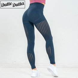 tight blue yoga pants NZ - Seamless Leggings Women Fitness Sport Legging Workout Gym Yoga Pants Hollow Out Tights Women's Sports Tummy Control Flex Legging