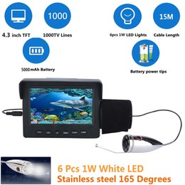led video lighting kits NZ - PDDHKK 4.3 Inch Color Monitor 1000TVL Underwater Waterproof 50M Cable Fishing Video Camera Kit 6 PCS 1W Bright LED White Lights