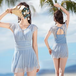 hot small sexy 2020 - female 2019 small fragrant wind one-piece sexy hot spring swimsuit Conservative belly-covering slim swimsuit discount ho