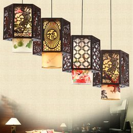 Browning Pendant China Australia - Vintage Classic Led Pendant Lights with Fabric Shade, E27 Socket , Retro China  Japan Style Pendant Lamp Lighting for Restaura