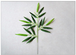 bamboo tree plastic Australia - 20Pcs Artificial Bamboo Leaf Plants Plastic Tree Branches Decoration Small Bamboo Plastic 20 Leaves Photographic Accessories Fake Plant