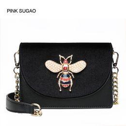 b2b6887c03fa19 Pink sugao designer women shoulder bag luxury new fashion purses crossbody  bags small messenger handbag little bee bags brand factory outlet