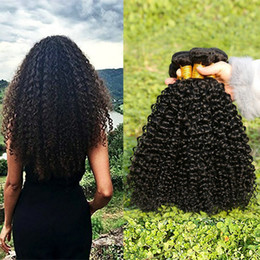 $enCountryForm.capitalKeyWord Australia - Musi 8A Virgin Brazilian Kinky curly human hair Bundles Brazilian Curly hair 3 bundles silky and smooth full head