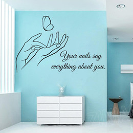 $enCountryForm.capitalKeyWord Australia - Hand Care Manicure Pedicure Wall Art Stickers for Nails Beauty Salon Hands Quote Wall Decal Living Room Bedroom Home Decor