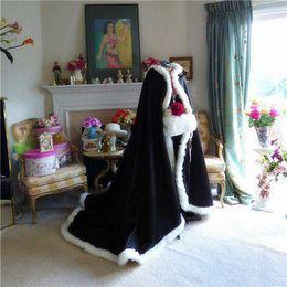 $enCountryForm.capitalKeyWord Australia - Stunning Fall Winter Fur Bridal Coat Wraps Jackets with Hat Cheap Bridal Wraps Warm Newest Long Wedding Cloak Capes Bolero