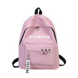 Exo Backpacks Australia - Newest Blackpink Exo Ullzang Backpack Bag Got7 Twice Monsta X Wanna One Stray Kids Schoolbag Txt Backpacks Gifts Sac A Dos Femme Y19061004
