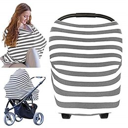 wholesale stroller sales Canada - Amazon hot sale multi functions breastfeeding towel baby car seat cover baby stroller cover sunscreen towel