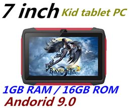 tablet pc 16gb Australia - NEW kid Tablet PC Q98 Quad Core 7 Inch 1024*600 HD screen Android 9.0 AllWinner A50 real 1GB RAM 16GB Q8 with Bluetooth wifi