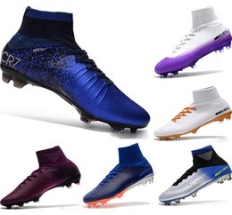 Football Kids Superfly Australia - New Kids Soccer Shoes Mercurial CR7 Superfly V FG Boys Football Bootses Magista Obra 2 Women Youth Soccer Cleats Cristiano Ronaldo