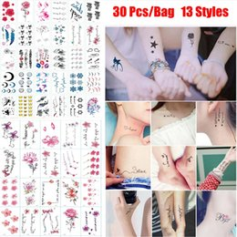 Cover sCar tattoos online shopping - 30 Styles New Mixed Patterns Waterproof Temporary Tattoo Stickers Removable Body Art Water Transfer Flowers Tattoos Cover Scars