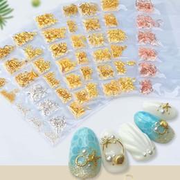 $enCountryForm.capitalKeyWord Australia - 1 pack Mix Gold Nail Rivet Star Moon Pearl Rhinestones Design Punk Nail Jewlery Silver 3D Art Decoration For Manicure