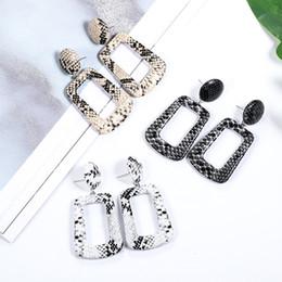 Earrings For Summer Australia - Summer Love Round Square Leather Earrings Long Dangle Snake Leopard Pattern Hanging Earring Drop Earrings for Women 2019 Jewelry