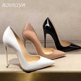 fb986c1aac Women Pumps Heels Shoes Nude Pointed Toe Sexy High Heel Shoes Stiletto Ladies  12 cm 10 cm 8 cm plus size QP051 ROVICIYA