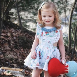 Cartoon Tutus Australia - New Kids Baby Girl Cartoon Dress Summer Toddler Sleeveless Tutu Dress Children Fashion Sundress Outfits free shipping