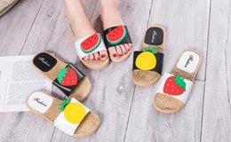 $enCountryForm.capitalKeyWord Australia - New summer slippers female cute wear fruit slippers cross-country non-slip soft bottom flat student sandals and slippers