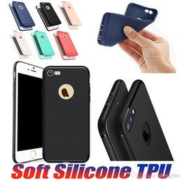Iphone Silicone Case Dhl Australia - 100PCS Lot Slim Silicone Case For iPhone X 8 7 6 6s Plus 5s Cover Soft TPU Matte Phone Case Cover Shell with Dust Cap Free DHL